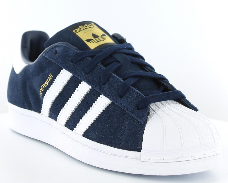 adidas superstar blanche et bleue