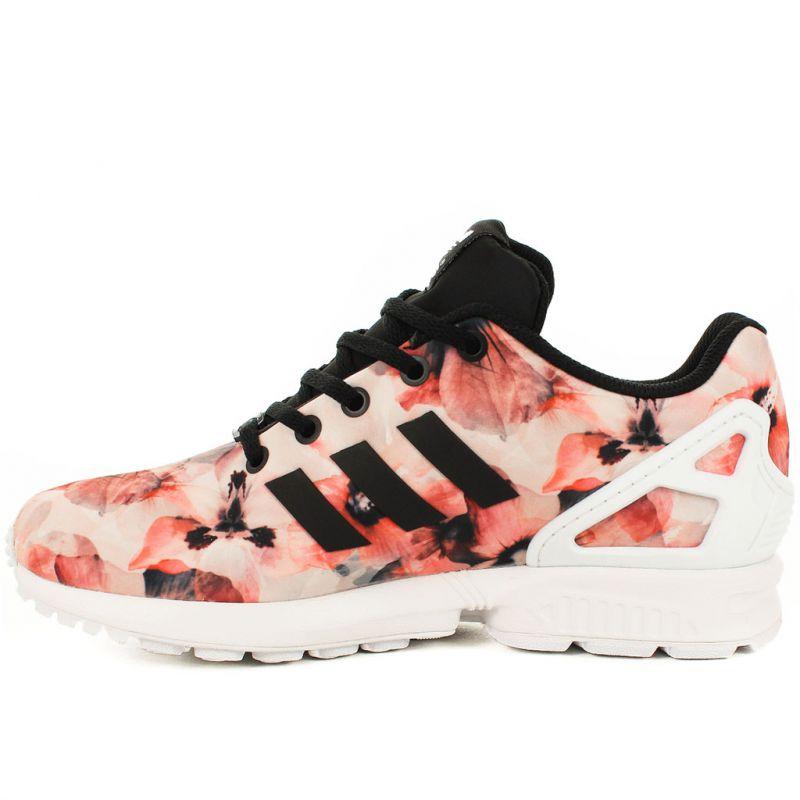 adidas zx flux motif fleur,Baskets adidas colorées. Shopper